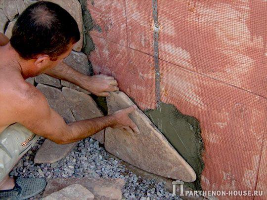 Фиксация искусственного камня