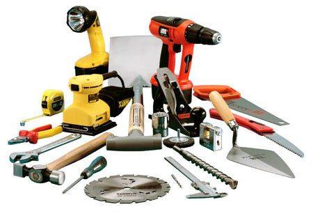 Инструменты для монтажа плитки.
