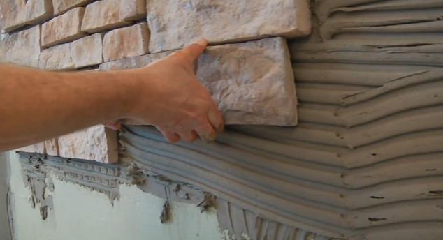 Укладка декоративный камень своими руками