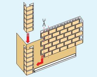 Монтаж сайдинговых панелей – установка в нижнюю стартовую планку и в угловой аксессуар