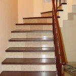 Отделка ступеней лестницы