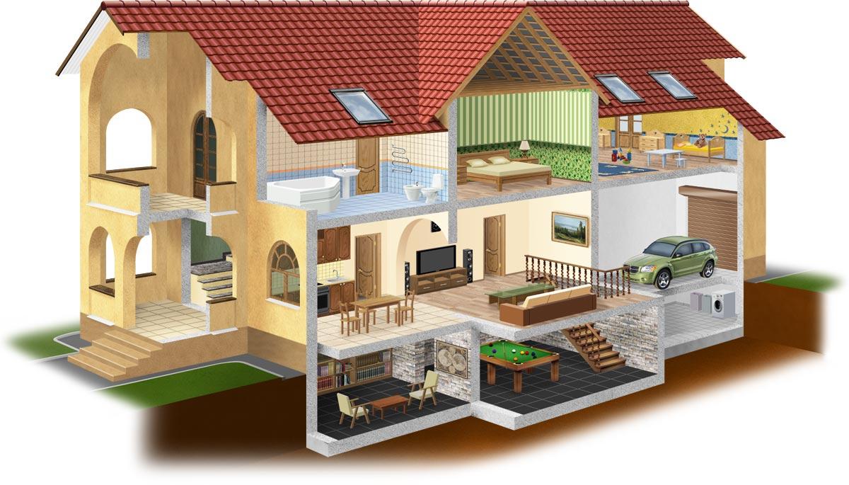 схема вентиляции в кирпичном доме чертежи