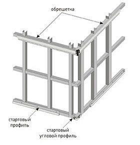 Пример металлической обрешетки.