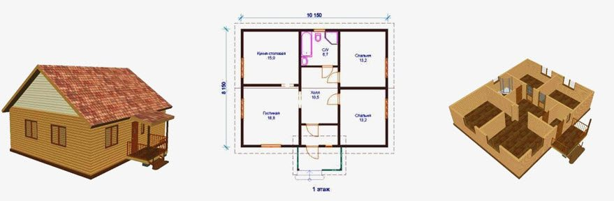 Проект дома 8х10 с подвалом: