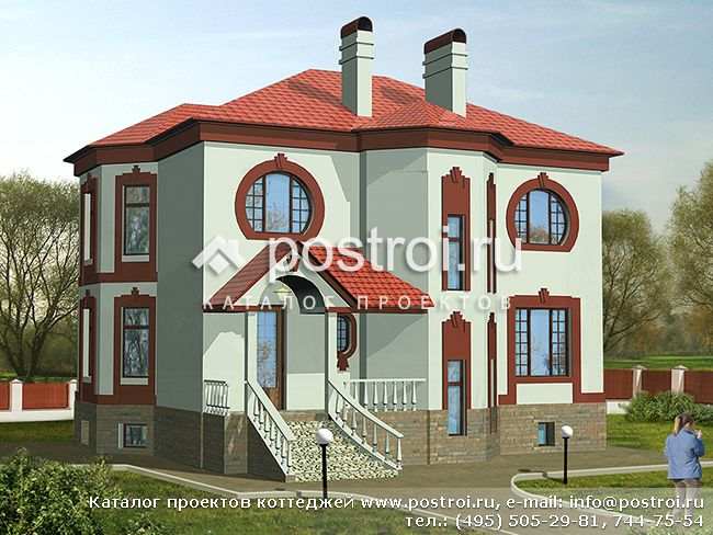 Проекты двухэтажных домов с