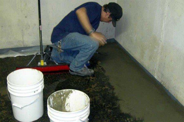 Пропиточная гидроизоляция в подвале.