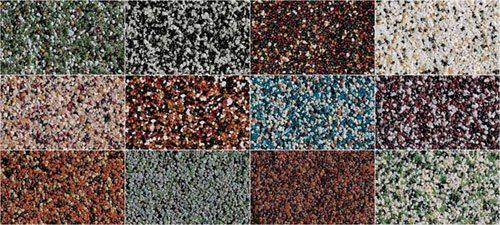 Разновидности цветового исполнения декоративных штукатурок