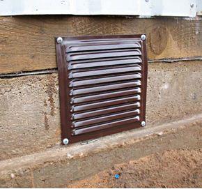 стоимость металлической решетки на подвал