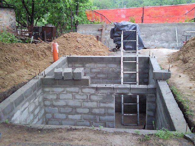 Как построить гараж своими руками из шлакоблоков