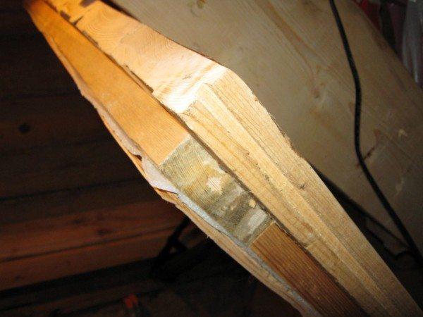 Утепленная деревянная ляда.
