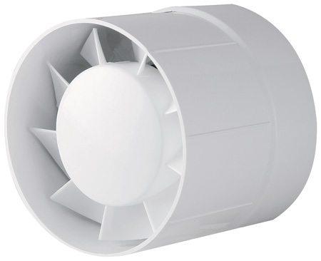 Бытовой канальный вентилятор изготовлен под размеры вентиляционных, а не канализационных труб.