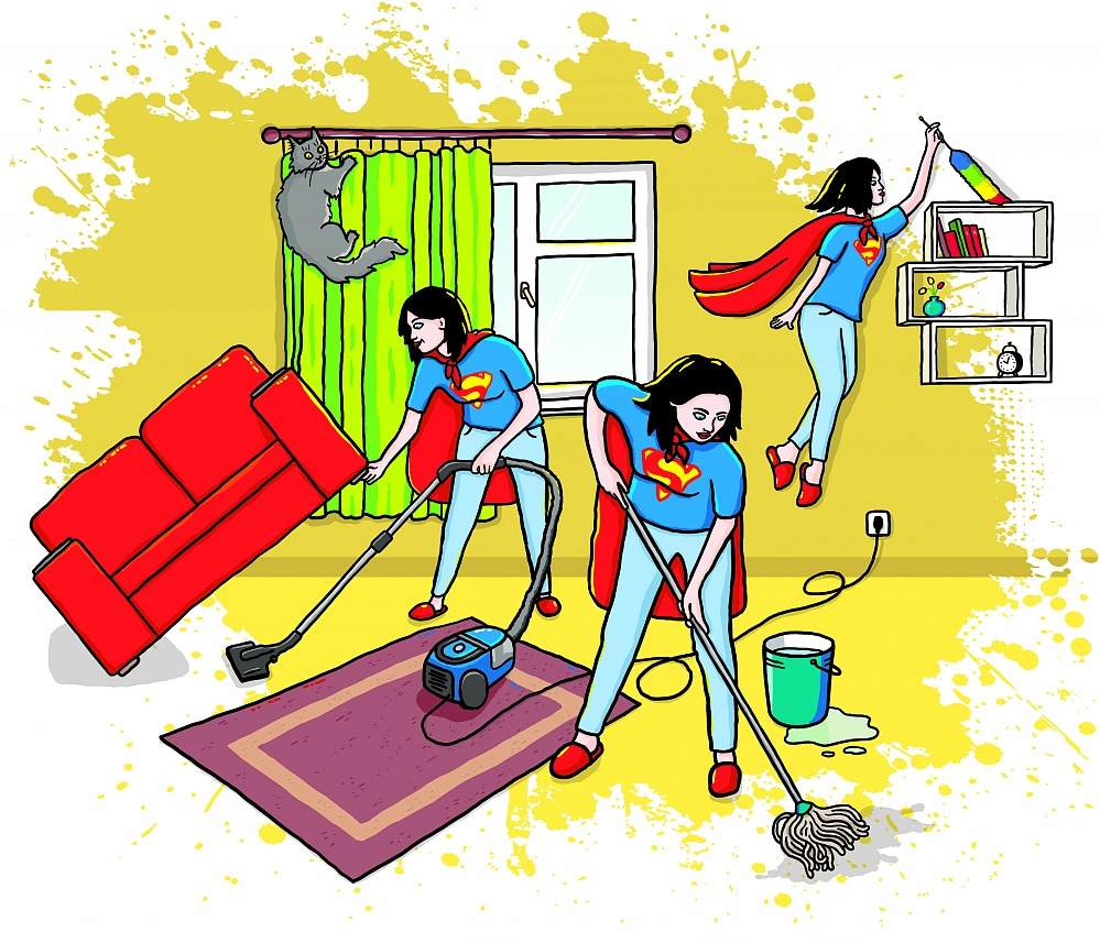 Уборка в доме картинки прикольные