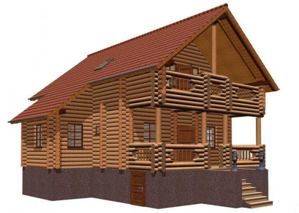 Дом с полуподвалом