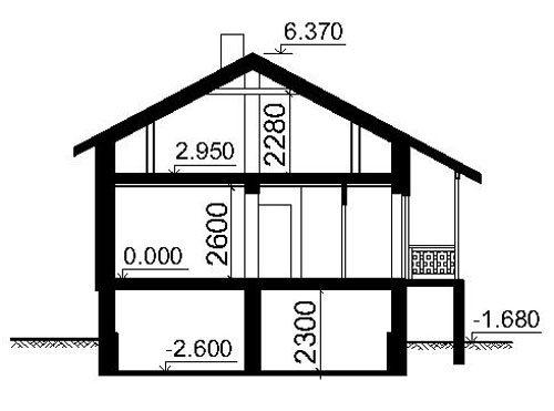 Если в доме будет цокольный этаж, он обязательно должен быть отражён в общем чертеже с указанием глубин относительно нулевой отметки