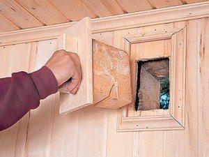 Фото вентиляционных отверстий в подвале.