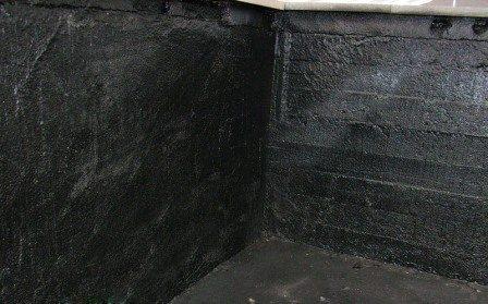 Гидроизоляция стен и пола погреба.