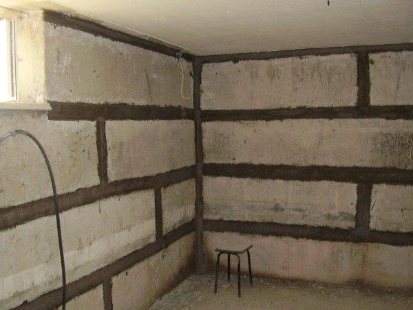 Готовые стены цокольного этажа
