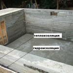 Как залить фундамент под дом с подвалом