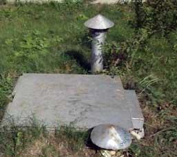 Кессон с вентиляцией на загородном участке