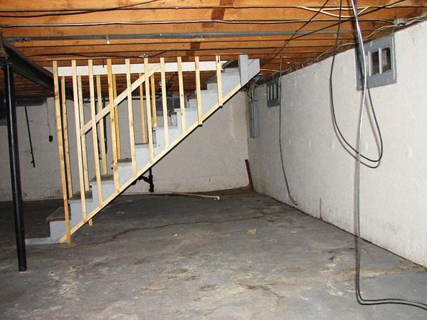Лестница и временные опоры