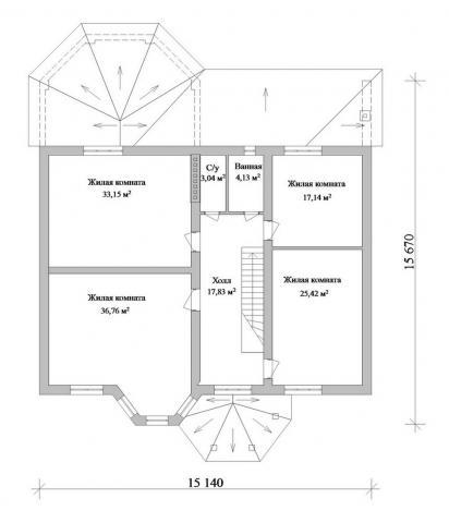Мансарда полностью состоит из спален, а для наибольшего комфорта в ней предусмотрены ванная комната и санузел