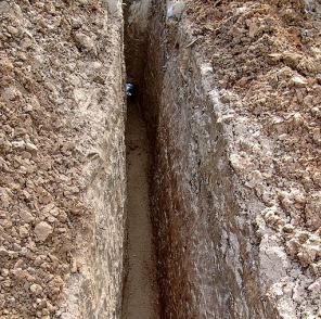 Место для укладки газопровода