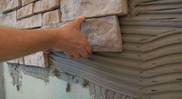 Монтаж отделочного камня