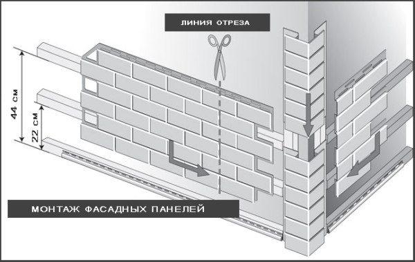 Монтируем первую стеновую панель.