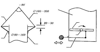 На противоположных концах вентканала находятся дефлектор, препятствующий попаданию в погреб дождевой воды, и заслонка для регулировки вентиляции.