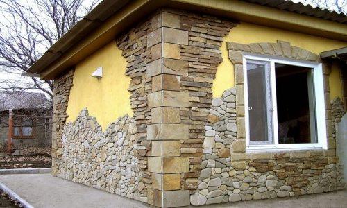 Облицовка природным камнем песчаник.