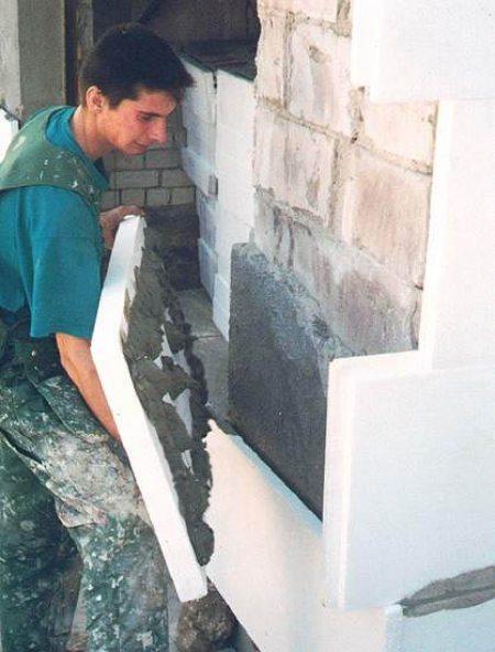 Облицовка стен пенопластом