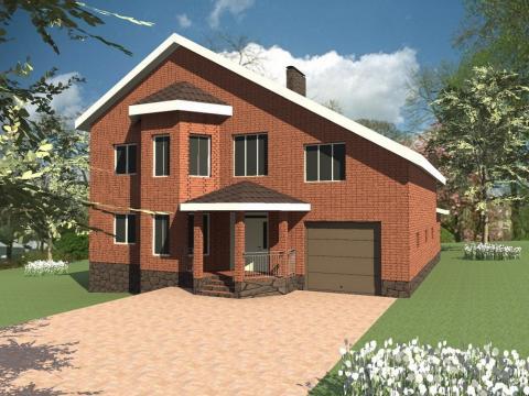 Одноэтажный коттедж с мансардой – практичное решение