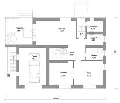 Планы домов с гаражом и подвалом, где последние находятся в цоколе, должны в обязательном порядке содержать лестницу (слева от авто)