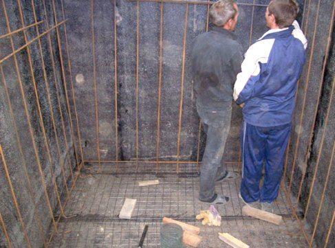 Подготовка погреба к заливке