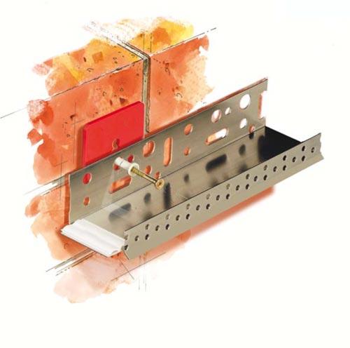 Подкладочная шайба под дюбель используется при наличии неровных стен.