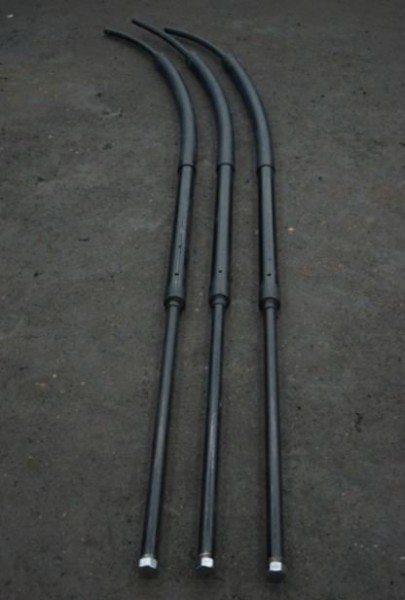 Полиэтиленовый ввод, с помощью свободного изгиба трубопровода