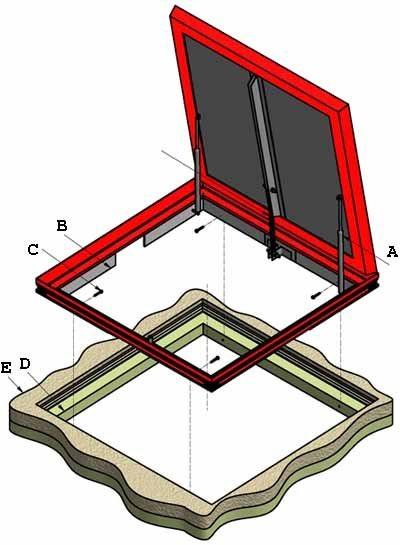 Полная схема изготовления люка в погреб (см. описание в тексте)