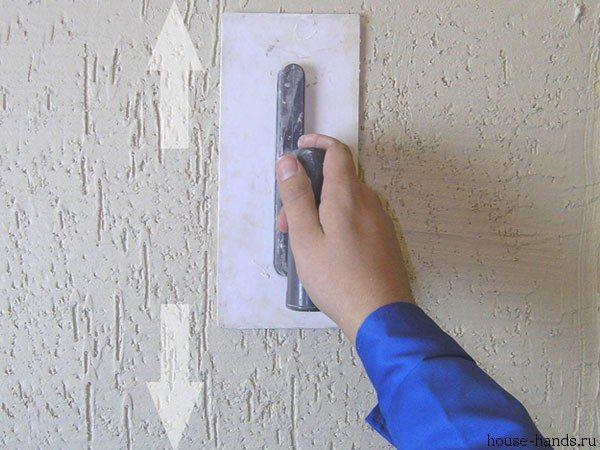 При желании поверхности можно придать определенную фактуру