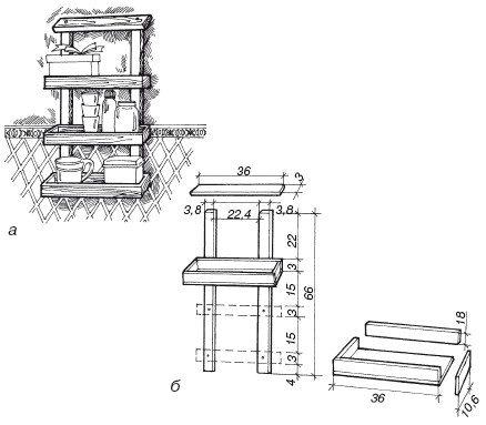 Пример чертежа будущей конструкции: детали нужно обозначить в размере и заранее.