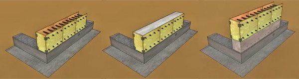 Примерная схема возведения монолитных стен