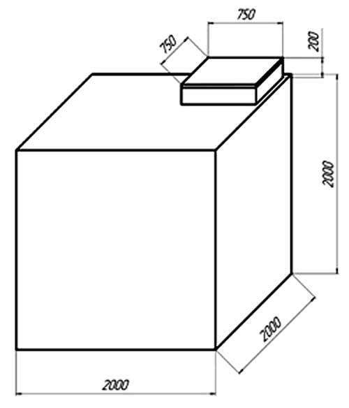 Размеры металлического ящика-кессона