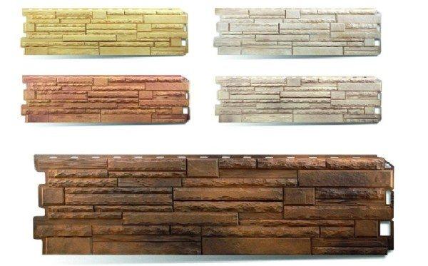Разновидности данного материала, выполненные в виде природного камня