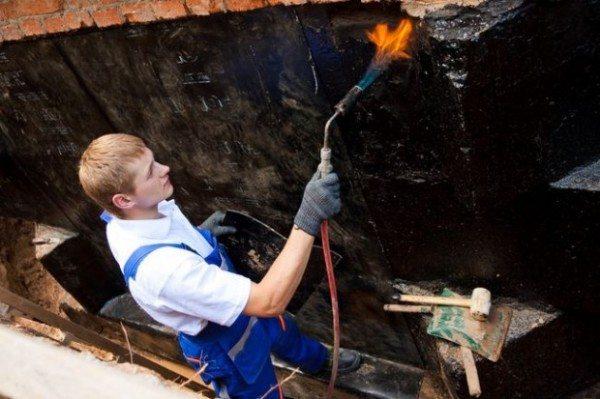 Разогрев битумного покрытия