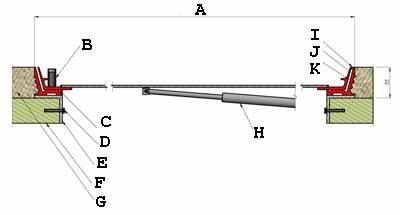 Схема горизонтальной проекции установленного люка содержит множество мелких деталей, которые и определяют качество сборки и установки (см. описание в тексте)