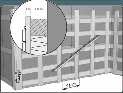 Схема расположения направляющих для цокольных панелей ПВХ.
