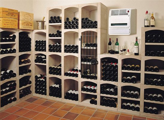 Современное помещение для хранения вина