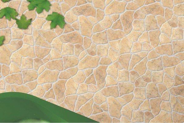 Структурированный керамогранит с видом натурального камня.