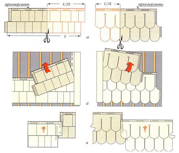 Установка рядовых сайдинговых панелей