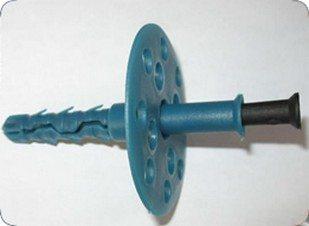 В качестве крепежа для утеплителя можно использовать тарельчатый дюбель.