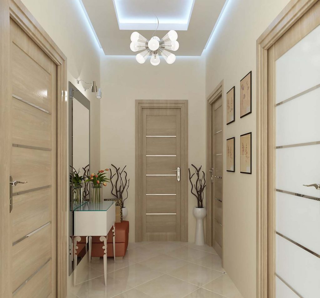 светлые двери и светлый пол в интерьере фото